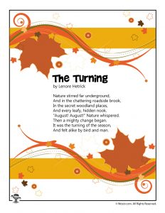 The Turning Poem About August for Kids