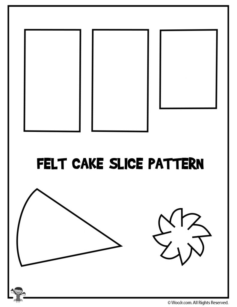 cake slice felt food tutorial