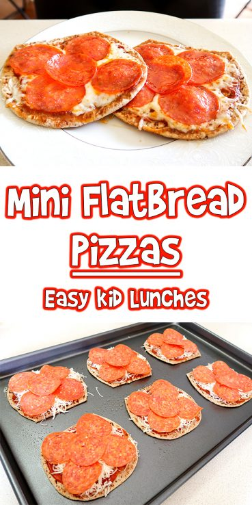 Mini Flatbread Pizzas | Easy Kid Lunches