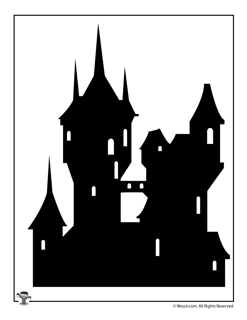 graphic relating to Printable Shadow Puppets titled Hogwarts Castle Shadow Puppet Woo! Jr. Children Routines