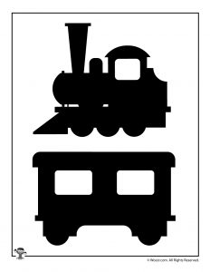 Printable Hogwarts Express Train Shadow Puppet