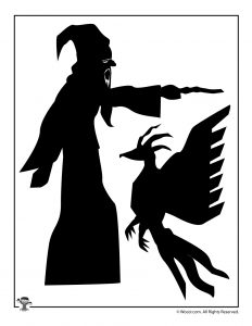 Professor Dumbledore and Fawkes Phoenix Shadow Puppets