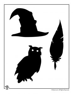The Sorting Hat, Quill and Hedwig Shadow Puppets