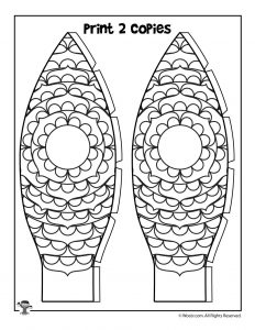 Petals Hot Air Balloon Printable Papercraft