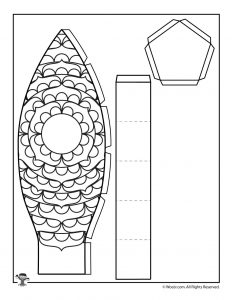 Bottom for Petals Hot Air Balloon Printable Papercraft