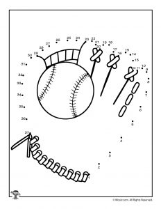 Baseball Dot to Dot Activity Page