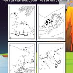 Dinosaur Dot to Dots Printable Activity Pages