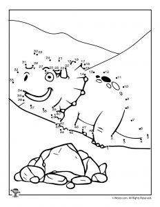 Dinosaur Dot to Dot Pages
