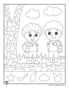 First Day of School Hidden Picture Printable