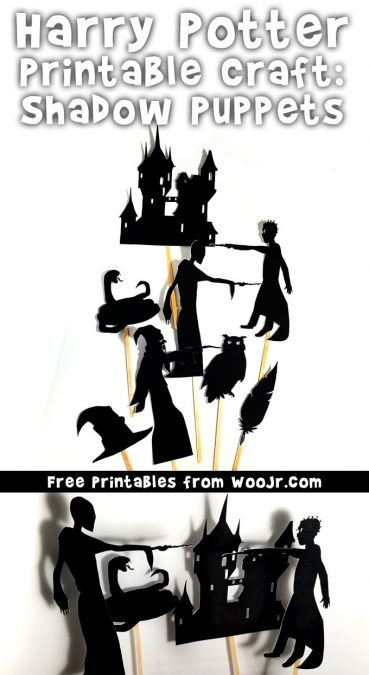Harry Potter Printable Crafts: Shadow Puppets