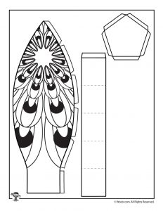 Bottom for Peacock Hot Air Balloon Printable Papercraft