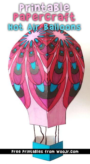 Hot Air Balloon Printable Papercraft