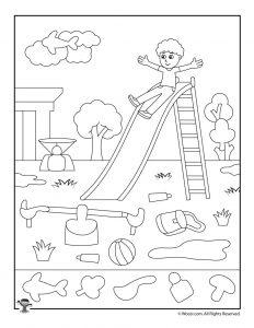School Playground Hidden Picture Game