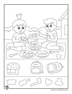 School Picnic Find the Item Printable