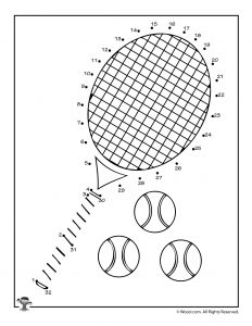 Tennis Connect the Dots Activity Printable