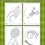 Sports Connect the Dots Printables