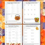 3rd Grade Halloween Math Worksheets: Multiplication and Division
