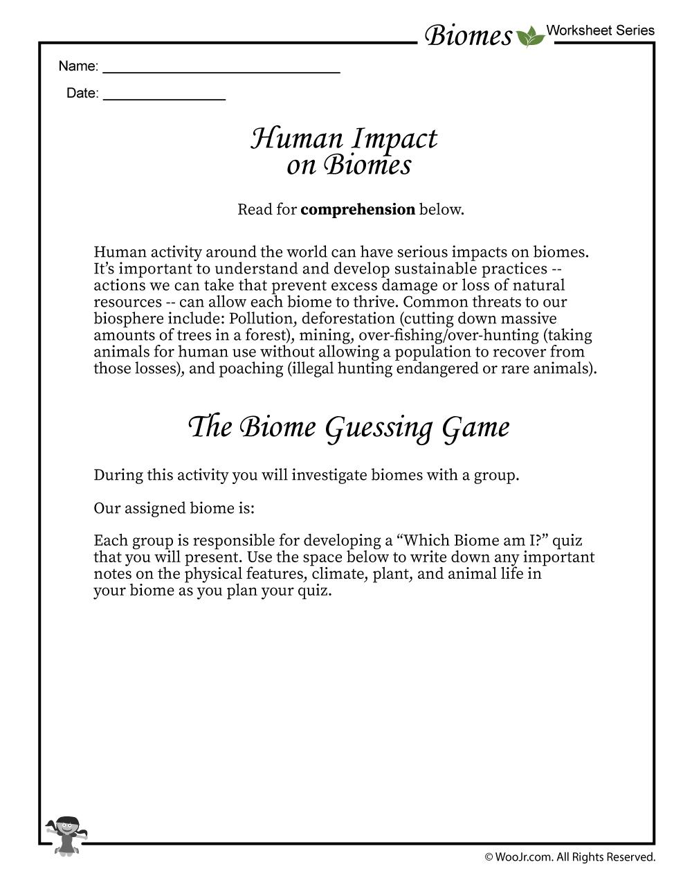 Biomes Guessing Game Worksheet | Woo! Jr  Kids Activities