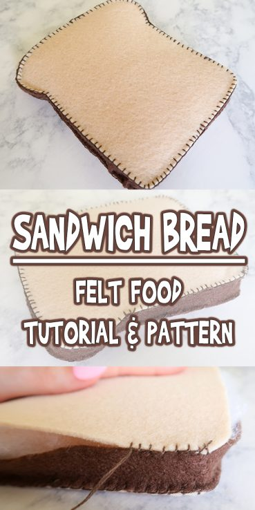 Felt Food Sandwich Bread | Tutorial & Pattern