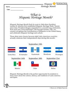 Hispanic Heritage Month Definition