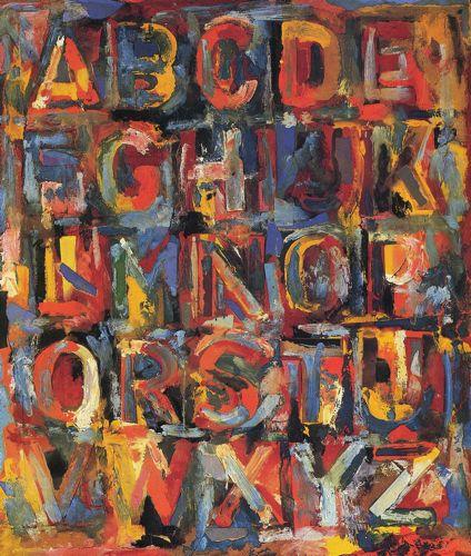"Jasper Johns, ""Alphabet"", 1959."