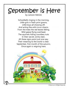 Back to School Poems for Kids