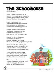 The Schoolhouse Poetry for Children