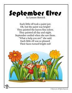 September Elves Poem for Kids