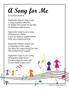 A Song for Me Poem About September