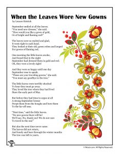 When the Leaves Wore New Gowns Children's Poetry