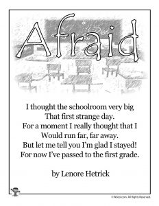 Afraid Poem for Kids About School