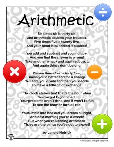 Arithmetic Education Poem for Children