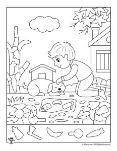 Autumn Hidden Pictures Worksheet
