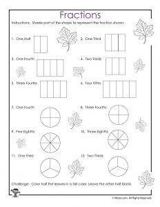 Visual Fractions Worksheet