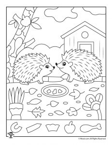 Hedgehogs Hidden Picture Activity
