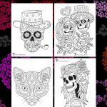 Day of the Dead Adult Coloring Pages – With Sugar Skulls!