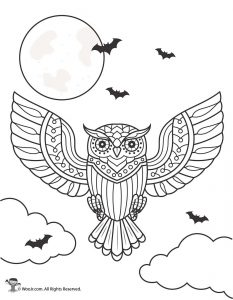 Day of the Dead Owl Coloring Page