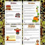 Printable Division Word Problems Worksheets for Fall