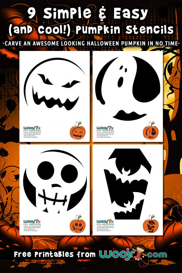 9 Simple and Easy Pumpkin Carving Stencils