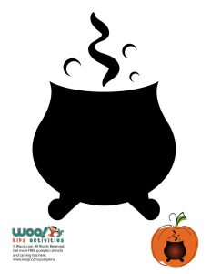 Easy Witches Cauldron Pumpkin Idea