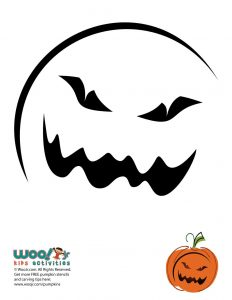 Easy Scary Moon Face Pumpkin