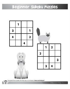 Easy Beginner Sudoku Puzzles for Kids