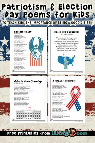 Patriotism and Election Day Poems for Kids