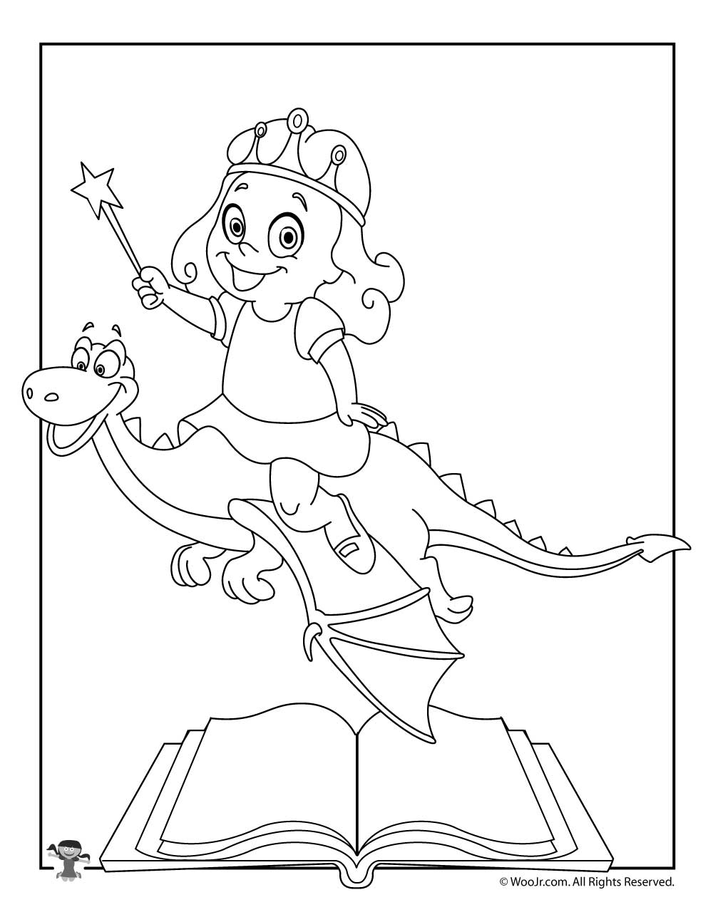Fairy Tales Coloring Page | Woo! Jr. Kids Activities