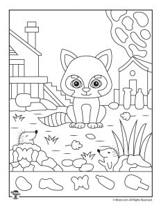 Fall Animals I Spy Worksheet