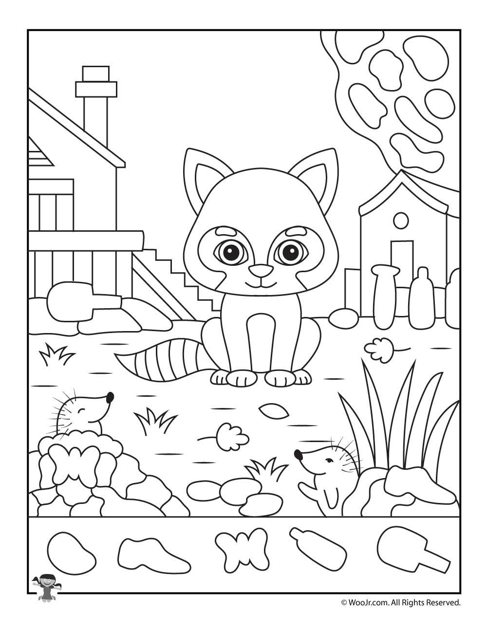 Fall Animals I Spy Worksheet | Woo! Jr. Kids Activities