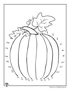 Fall Pumpkin Connect the Dots Page