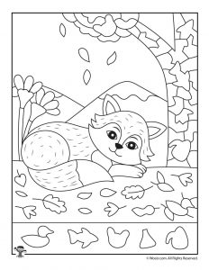 Fall Fox Hidden Picture Page