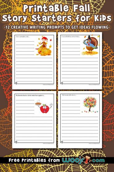 Fall Story Starters to Print for Kids
