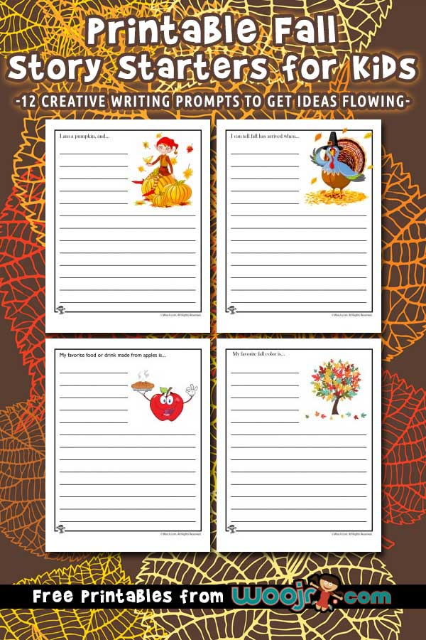 Printable Fall Story Starters for Kids